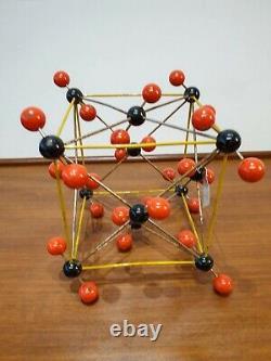 Carbon dioxide vintage molecule model scientific school classroom teaching aid