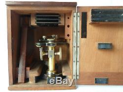 Carl Zeiss Jena Dissecting Microscope Preparation Brass Antique 1890