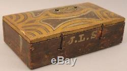 Circa 1700s Surveyors Compass/Semi Circumferenter Beautiful Artwork on Box