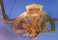 Circa 1885 W. Watson Sons Gimbaled Surveyors Mining Compass unusual Vertical Arc