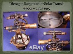 Circa 1915 Dietzgen Saegmueller Solar Transit +Xtras Wisconsin Power Co. History