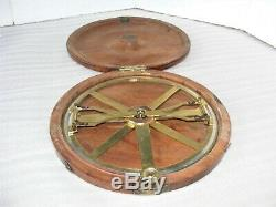 Circular Protractor With Folding Arms And Rack Adjustment By Cary