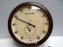 Clock Second Timer Wall Clock Bakelite 1930's War Dpt Smiths Rare