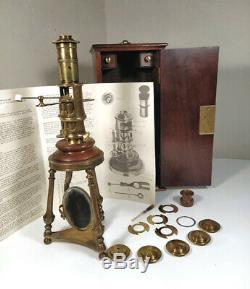Compound Screw-barrel Microscope Replica Rara + Case