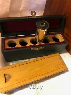 EARLY Antique Ernst Leitz Wetzlar Brass Microscope NO. 198284 c1917