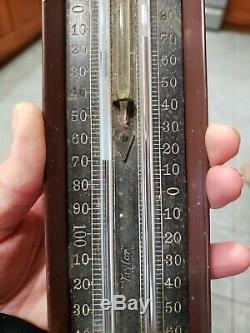 Early Antique Taylor Min Max Thermometer Copper Arts and Crafts Case Tycos