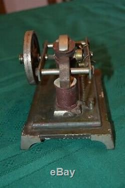 Early Antique electric open coil motor model Cast Iron Base & parts