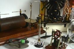 Early antique electric motor and electrostatic collection with Wimshurst machine