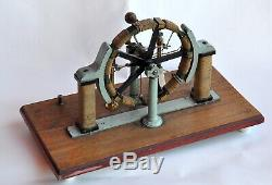 Early antique electric motor/generator Pacinotti-Gramme-Maschine, M. Kohl -rare
