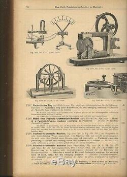 Early antique electric motor/generator Pacinotti-Gramme-Maschine, M. Kohl -rare