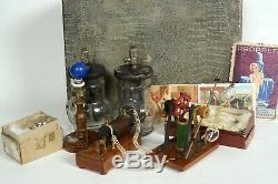 Early electric motor/rotator in experimental box, Pericaud, Paris, 1890