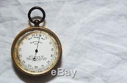 Edwardian Cased Pocket Barometer & Altimeter By Newton & Co Fleet Street London