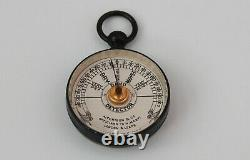 Edwardian Cased Pocket Damp Protector Or Hygrometer By Aitchison & Co Of London