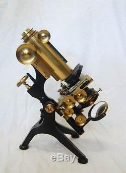Edwardian Cased Royal Model Microscope By W Watson & Sons High Holborn London