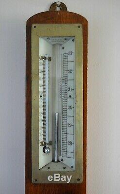Edwardian Mining Stick Barometer By Thomson Skinner & Hamilton Of Glasgow