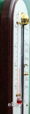 English Rapport London 36 Mahogany Stick Thermometer/ Barometer