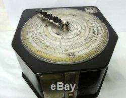 Et Ultra Washington Antique Concrete Slide Metal Rules Drum Calculating Machine