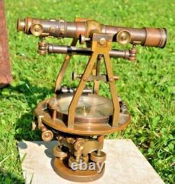 Fantastic Antique c1900 Brass W & L. E Gurley Surveyor Transit Instrument Compass