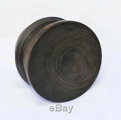 Fine 3 inch terrestrial globe in lignum vitae case Woodward. C. 1860