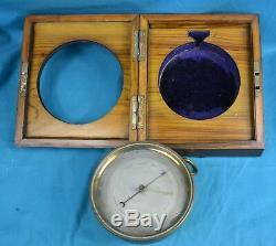 Fine Quality Lucien Vidi Aneroid Barometer Sold By EJ Dent In Velvet Lined Case