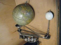 Fully Functional Antique Trippensee Planetarium Orrery Brass Sun Original Box