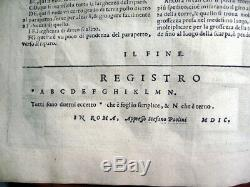 G. POMODORO 1603 Rare Book On Surveying And Drawing Instruments
