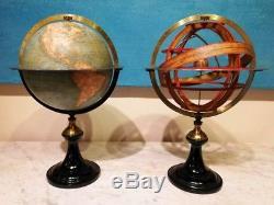 Globe And Sphere Armillary Delamarche XIX Th