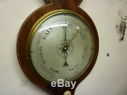 Good 19th Century Mahogany Banjo Barometer By G Fillinger Market Place Ely