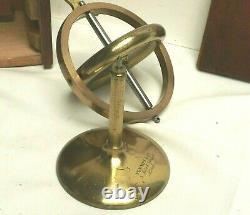 Gyroscope Brass Newton & Co Horizontal Plane Horizontal Precession