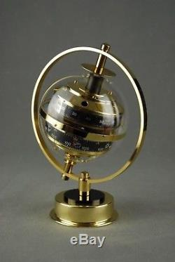 HUGER Sputnik Weather Station + BOX Barometer Thermometer Art Deco Germany 80s
