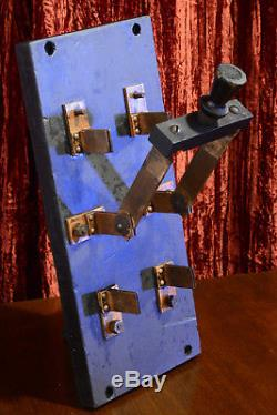 HUGE Antique Electric Chair KNIFE SWITCH Edison Frankenstein era steampunk Tesla