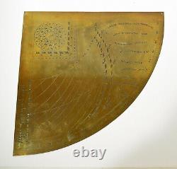 Horary Quadrant of Girolamo della Volpaia Vintage Quality Solid Brass Model