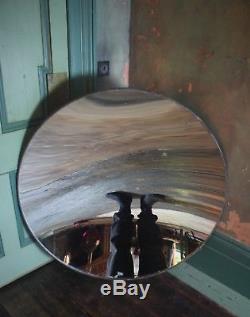 Huge Concave Distortion Mirror Antique Curio Unusual Industrial