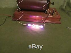 INDUCTION COIL, MONSTER, FIERCE, 5 in SPARK VINTAGE PHYSICS STUNNING & WORKING