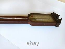 JOHN CORTI FECIT ANTIQUE STICK BAROMETER C1800 Mahogany