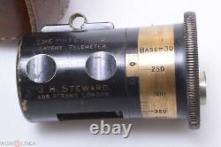 J. H. Steward The Steward Brass Antique Range Finder Telemeter Early Surveyor