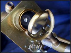 J. S. Swift & Son Brass Microscope
