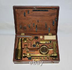 Jones Improved Microscope Abraham, Bath. Old brass microscope