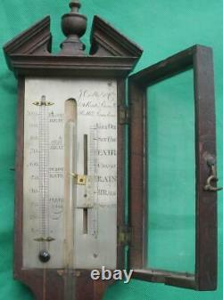 Joseph Cetti & Co London Georgian Feather Fan Mahogany Stick Barometer