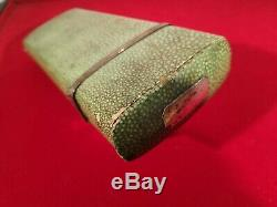 LARGE GEORGIAN SHAGREEN COVERED DRAUGHTSMANS DRAWING CASE & CONTENTS c. 1785