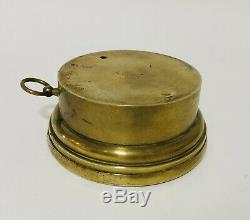 Large Antique Brass Aneroid Barometer by T. Armstrong Bros Manchester
