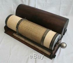 Large Antique Daemon Schmid LOGA 24m Cylindrical Calculator Slide Rule c. 1915