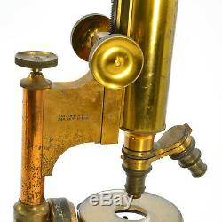 Large Bausch & Lomb Antique Historic Brass microscope 17 x 7 x 7 inches