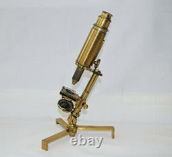 Large Carpenter type compound microscope in case