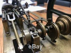 Late 1800's Steam Engine Desktop Model Finely Engineered Beautiful Patina