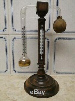 Late Victorian Professor Daniell's Hygrometer On Boxwood Stand