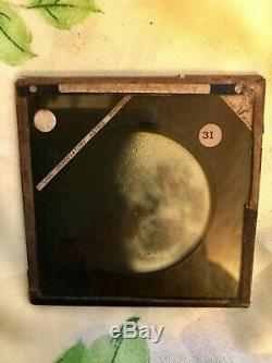 Lick Observatory Astro Glass Photo Negative Of The Moon Taken 1890 Aug 4th