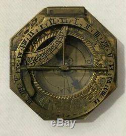 Lorenz Grassl Equinoctial Universal Inclining Pocket Sundial Compass 18th C