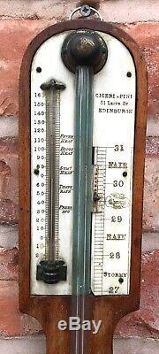 Lovely Antique Stick Barometer By Ciceri & Pini Edinburgh