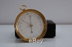 MID Victorian VIDI Aneroid Barometer In Original Leather Presentation Case